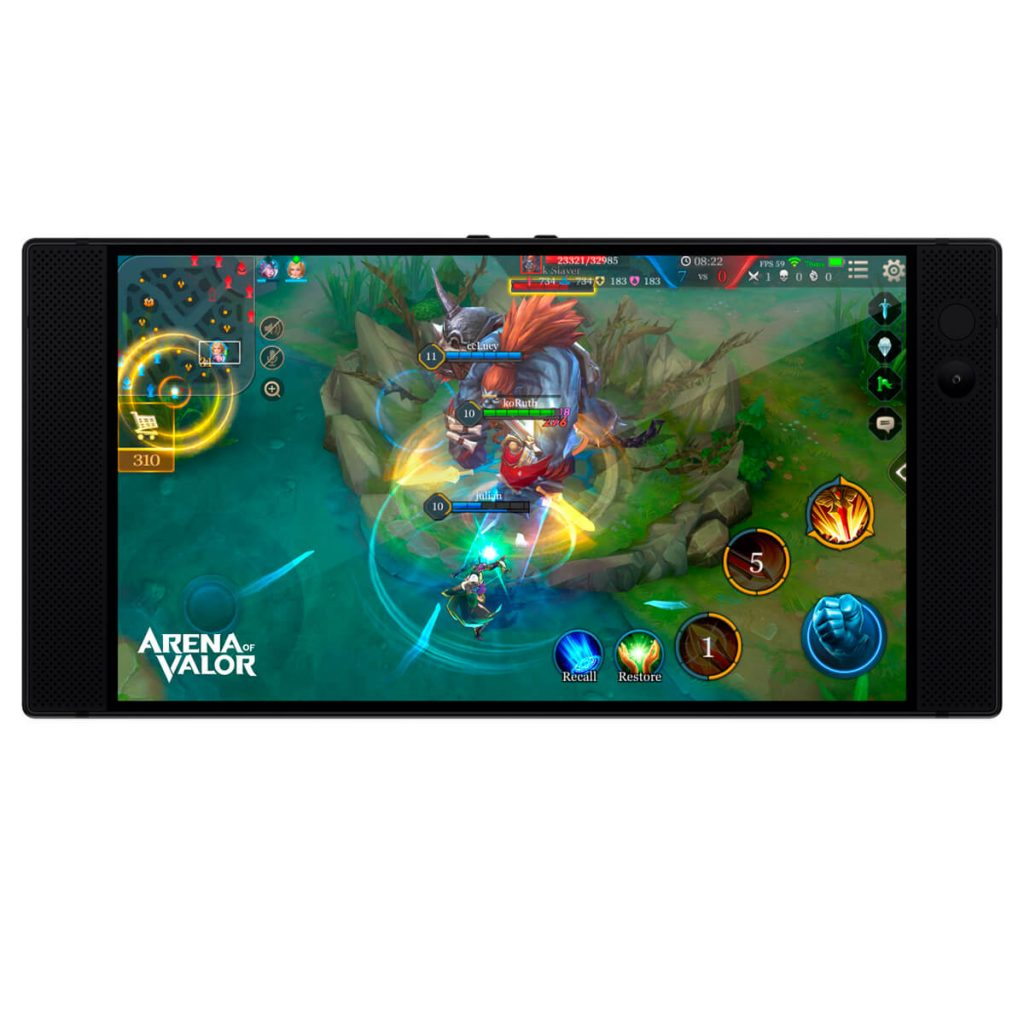 Razer Phone - color negro - arena of valor