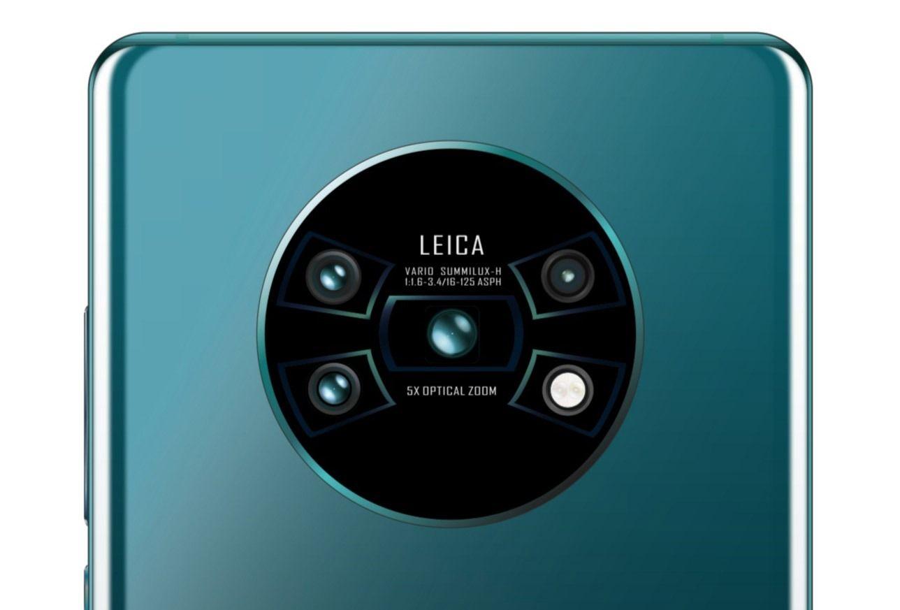 Huawei Mate 30 Pro filtra imagenes de la cámara trasera y el diseño de pantalla