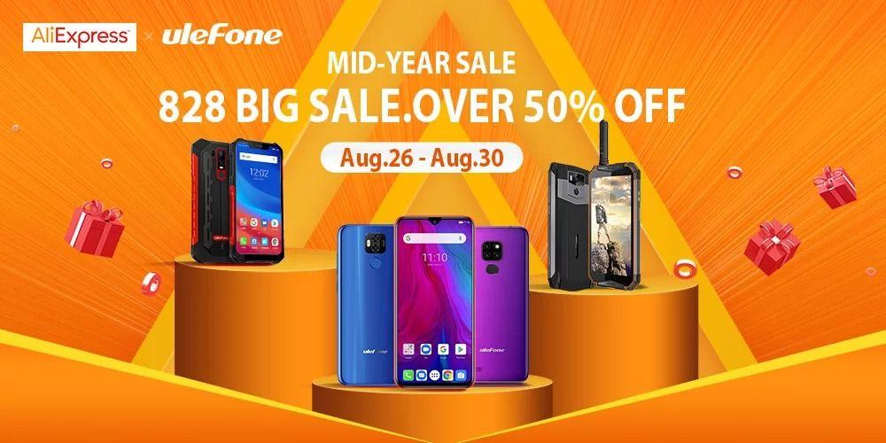 Obtenga hasta un 50% de descuento en dispositivos Ulefone a través del Festival Global de Compras de Medio Año de AliExpress.